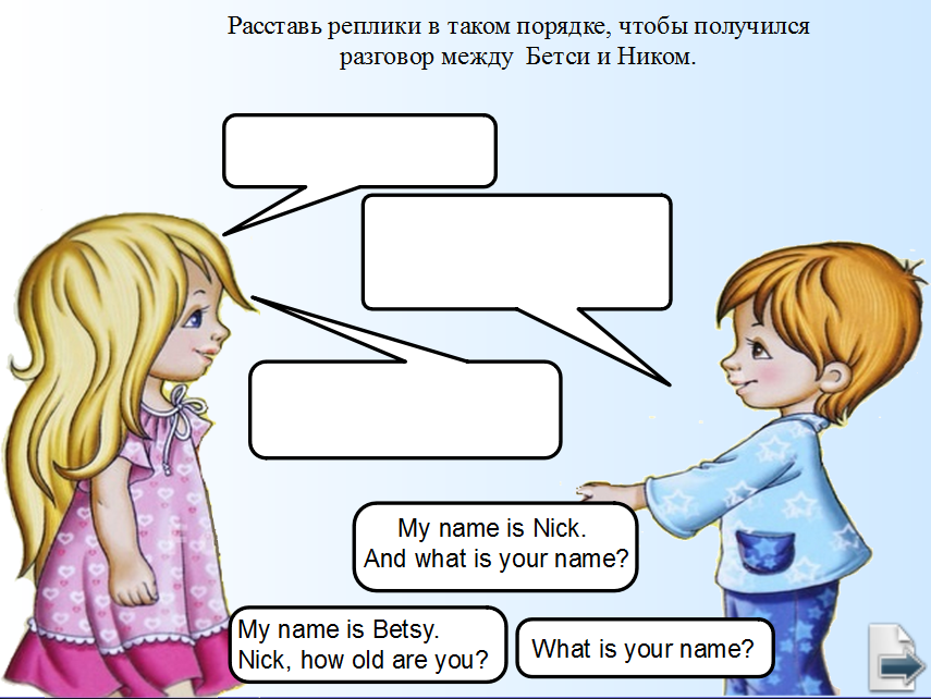 Составить диалог знакомства на английском языке